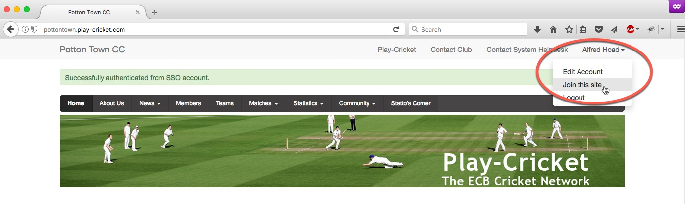 How Do I Become A Member Of My Club S Website Play Cricket